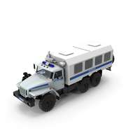 URAL 4320 Police Truck Simple Interior PNG & PSD Images