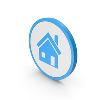 Icon House Blue PNG & PSD Images