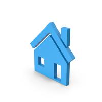 Symbol House Blue PNG & PSD Images