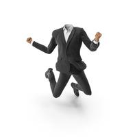 Success Jumped Up Suit Black PNG & PSD Images
