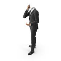 Talking Phone Argues Suit Black PNG & PSD Images