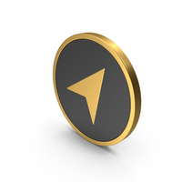 Gold Icon Send Button / Arrow PNG & PSD Images