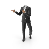 Thumbs Forward Suit Black PNG & PSD Images