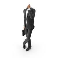 Waiting Talking Phone Bag Suit  Black PNG & PSD Images