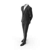 Waiting Hands Behind Suit Black PNG & PSD Images