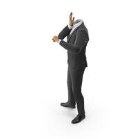 Worried Suit Black PNG & PSD Images