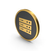 Gold Icon Server PNG & PSD Images