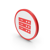 Icon Server Red PNG & PSD Images