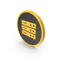 Icon Server Yellow PNG & PSD Images