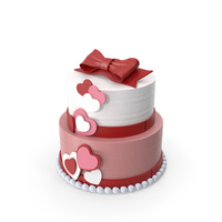 Valentine Heart Love Cake PNG & PSD Images