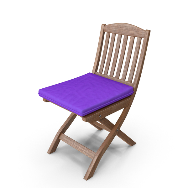 Folding Chair Purple Cushion PNG & PSD Images