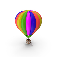 Cartoon Air Balloon PNG & PSD Images
