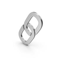 Symbol Link Silver PNG & PSD Images