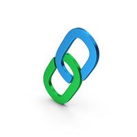 Symbol Link Colored Metallic PNG & PSD Images
