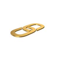 Gold Symbol Link PNG & PSD Images