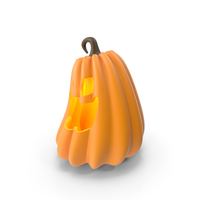 Glowing Pumpkin Face PNG & PSD Images