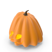 Glowing Pumpkin Face Halloween PNG & PSD Images