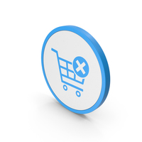 Icon Remove From Shopping Cart Blue PNG & PSD Images