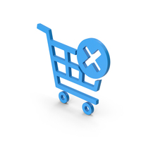 Symbol Remove From Shopping Cart Blue PNG & PSD Images