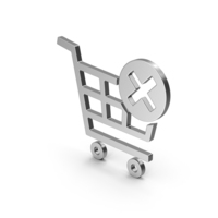 Symbol Remove From Shopping Cart Silver PNG & PSD Images