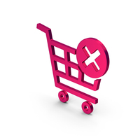 Symbol Remove From Shopping Cart Metallic PNG & PSD Images