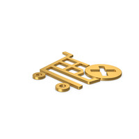 Gold Symbol Remove From Shopping Cart PNG & PSD Images