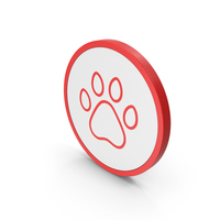 Icon Animal Paw Red PNG & PSD Images