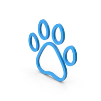 Symbol Animal Paw Blue PNG & PSD Images