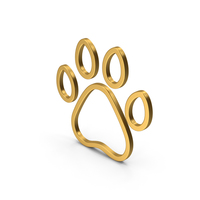 Symbol Animal Paw Gold PNG & PSD Images