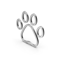 Symbol Animal Paw Silver PNG & PSD Images
