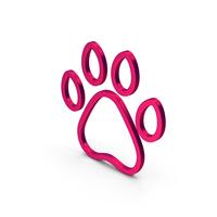 Symbol Animal Paw Metallic PNG & PSD Images