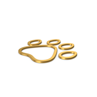 Gold Symbol Animal Paw PNG & PSD Images