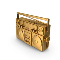 Radio Tape Player Gold PNG & PSD Images