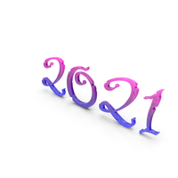 Stylized Numbers 2021 PNG & PSD Images