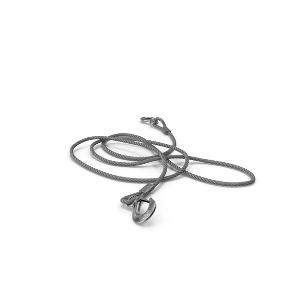 Vehicle Steel Wire Tow Rope with Hooks PNG & PSD Images