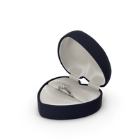 Velvet Gift Box with Diamond Ring PNG & PSD Images