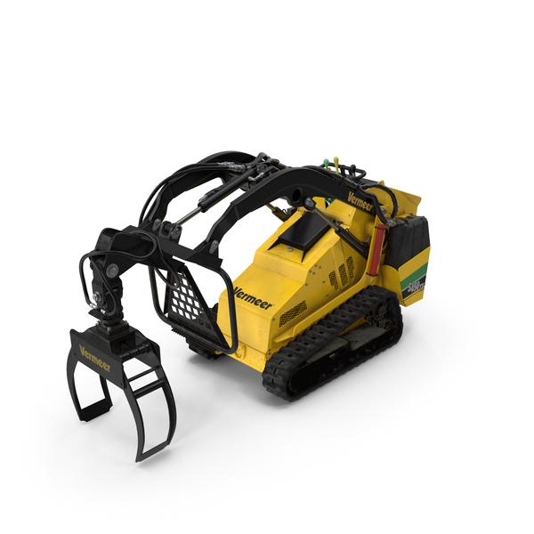 Vermeer S450TX Grapple Mini Skid Steer Dirty PNG & PSD Images