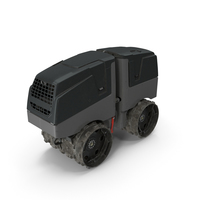 Vibratory Trench Roller Dirty PNG & PSD Images