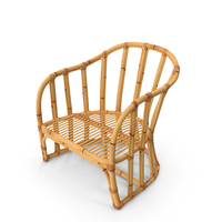 Vintage Bamboo Armchair PNG & PSD Images