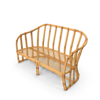 Vintage Bamboo Couch Sofa PNG & PSD Images