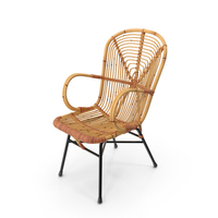 Vintage Bamboo Lounge Chair PNG & PSD Images