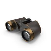 Vintage Brass Military Binoculars PNG & PSD Images