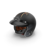 Vintage Motorcycle Helmet Lucky 13 PNG & PSD Images