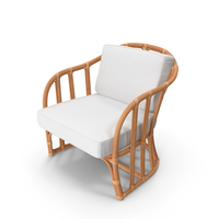 Vintage Rattan Armchair with Cushions PNG & PSD Images