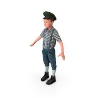 Vintage Style Realistic Boy PNG & PSD Images