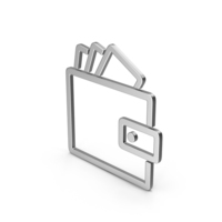 Symbol Wallet With Money Silver PNG & PSD Images