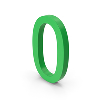 Number 0 Green PNG & PSD Images