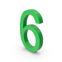 Number 6 Green PNG & PSD Images