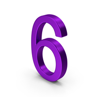 Number 6 Purple PNG & PSD Images