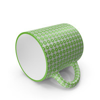 Printed Dark Green Cup on Floor PNG & PSD Images